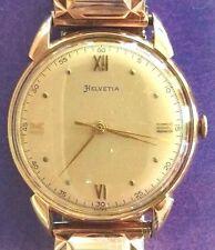 HELVETIA18KT SOLID GOLD SWISS MAN WATCH 33mm DIAMETER