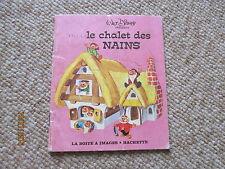 LA BOITE A IMAGES HACHETTE walt disney le chalet des nains  1973