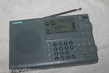 Sangean ATS-909 SHORTWAVE WORLD Radio works *MISSING GLASS LCD COVER** WORKS