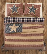 INDEPENDENCE Twin Quilt Patchwork Americana Flag USA Stars Stripes Patriotic