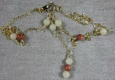 Vintage Real Nice 12K Gold Filled Chain With Red & White Beards