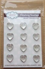 Creative Expressions HEART SPARKLERS 12 Medium Flat backed resin embellishments