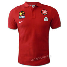 HAL Western Sydney Wanderers Core Polo Shirt RED XL