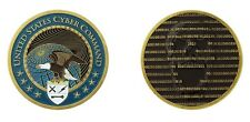 """UNITED STATES CYBER COMMAND MILITARY 1.75"""" CHALLENGE COIN"""