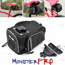 2016 Mountain Bike Cycling Saddle Bag Seat Pouch Bicycle Tail Rear Large Storage
