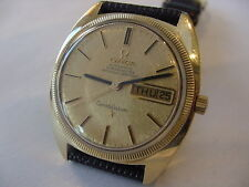 BEAUTIFUL 1967 18k SOLID GOLD OMEGA 24j CONSTELLATION 168029 No Reserve! AWESOME