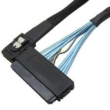 Mini SAS 36 Pin SFF 8087 To SFF-8484 SAS 32 Pin Data Cable Latch Cable 1.5 FT