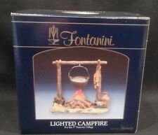 NIB Fontanini LED Light up Campfire Italian Nativity Village Accessory #59532