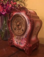 Ansonia La Hay Royal Bonn German Porcelain French Style Mantle Shelf Clock