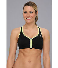 SHOCK ABSORBER ACTIVE ZIPPED PLUNGE SPORTS BRA BLACK #S00BW SIZE 34 D NEW! $69
