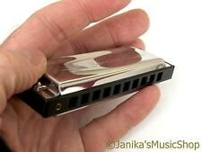 Swan blues small pocket harmonica+hard case harp mouth organ 10 hole 3 octave C