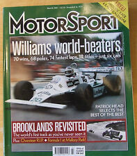 MOTOR SPORT MAR 2001 WILLIAMS WORLD BEATER BROOKLANDS REVISITED BMC COMPETITION