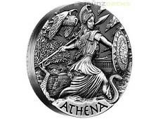 2 $ Dollar Goddesses of Olympus Athena Athene High Relief Tuvalu Silber 2015