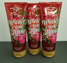 Winter Candy Apple Bath and Body Works body cream X3 FREE EXPEDITED SHIPPING!