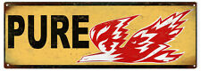 Pure Firebird Gasoline Motoroil Sign With Firebird