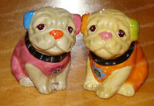 22254 - Cozy Pugs Salt / Pepper Shakers (Cozy Critters by Westland ) Ceramic