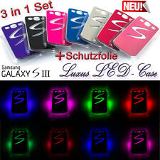 Samsung Galaxy s3 LED flash colores cambiantes cover leuchtcover case funda i9300 LTE