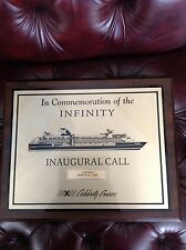 "Celebrity Cruise Line's ""INFINITY COZUMEL MARCH 5, 2001 INAUGURAL CALL"" REDUCED"