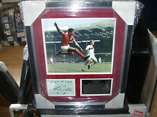 EUSEBIO SIGNED  '66 WORLD CUP MONTAGE AFTEL