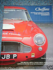 Cheffins auction catalogue avril 2004 cambridgeshire aston martin DB4 connaught