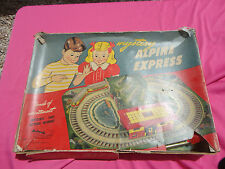 VINTAGE MYSTERY ALPINE EXPRESS TIN LITHO WIND-UP TRAIN  AUTOMATIC TOY Co