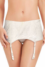 12 Medium Pleasure State Ella Mae 112244 Deep Suspender Belt Ivory