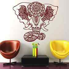 Wall Decal Elephant Mandala Yoga Decals  Mural  Bedroom Decor Vinyl Sticker Al18