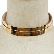 "15"" gold layered cuff ridge choker collar Necklace .80"" width"