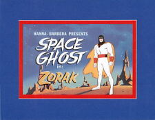 SPACE GHOST - ZORAK PROMO PRINT PROFESSIONALLY MATTED Hanna Barbera