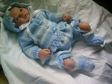 "KNITTING PATTERN BABY 0-3 MONTHS OR REBORN DOLL 19""-21"" Patt 31 Fairisle"