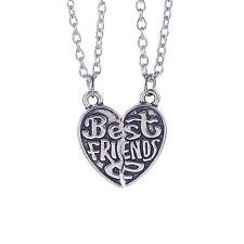 Partnerkette BEST FRIENDS beste Freunde 2 Partner Anhänger Ketten Freundschaft