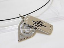 Naruto Shippuden Uchiha Itachi anti-leaf headband double metal pendants necklace