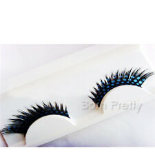 1 Paire Shimmer False Eyelash Bleu Dot For Party Beauty Eye Make-up Faux Cils