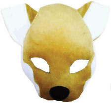 Mr Fox Face Mask & Sound Animal Fancy Dress Costume Outfit New