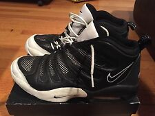 1990s Mens Vintage Nike Air Flight Payton Rodman ESBL Black White Size 12 OG NDS