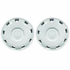 "Pair Of 13"" Inch White Jupiter Caravan Motorhome Wheel Trims Rims Hub Caps"
