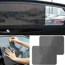 2Pcs Car Window Sun Shade Cover Block Static Cling Shield Screen Black