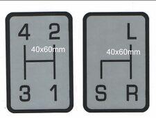 Schaltschema satz Aufkleber Holder A40,A45,A50 Bild1 od.A660 Bild2 od.E 9 Bild3