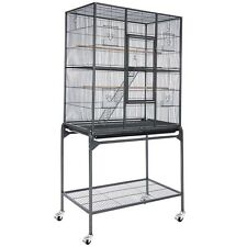 "64"" Large Parrot Bird Cockatiel Parakeet Finch Cage Gym Perch Stand Vein Black"