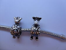 Lovely Silver Plated Giraffe Charm   Fits European Bracelets