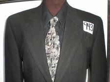 (38S) Joseph Abboud BLACKISH GRAY PINSTRIPE Men's 2 Pc Wool Suit 32/32 Pants