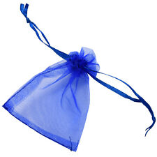 100X Jewellery Bag sachets Organza Bag blue N3