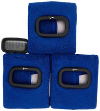 New Nike Cuff 3pc WR0094 905 Sport Blue Fitness Running Arm Band Watch