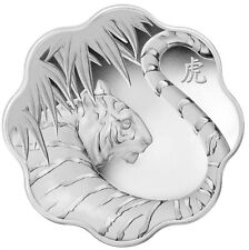 Canada $15 Fine Silver Coin Lunar Lotus Zodiac Year of the Tiger  (2010)