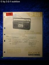 Sony Service Manual CF 520 Cassette Recorder (#0075)