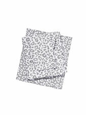 Victorias Secret PINK Twin Sheet Set Grey Animal Leopard Bedding Dorm Extra LONG