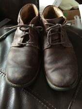 JOHNSTON & MURPHY 59-13536 Mens Brown Leather Oxford Boots US 11M EUC