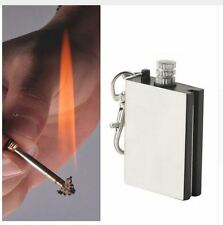 Flint Steel Stone Fire Starter Fluid Camping Lighter Survival Striker Army Bush