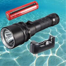Elfeland Underwater 100M 7000LM T6 LED Diving Flashlight Waterproof Torch Lamp