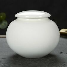 Funeral urns for Adult ashes - Pure white cremation urn can hold 500g ashes urne